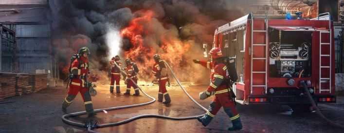 Испытание боевой одежды пожарного
