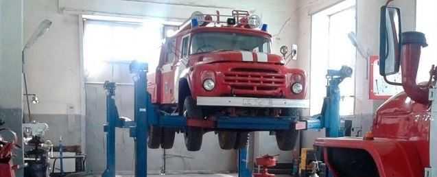 Проверка тормозной системы пожарного автомобиля