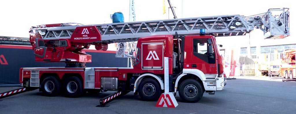 Испытание пожарной автолестницы